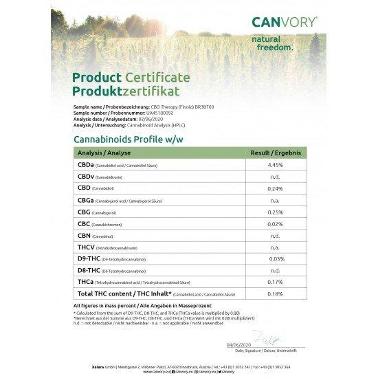 CBD Therapy - 5 CBD freeze-dried Cannabidiol cannabis flowers, 10 grams - CANVORY