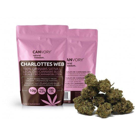 Charlottes Web - 5 CBD Cannabidiol Cannabis Buds, 4 gram - CANVORY