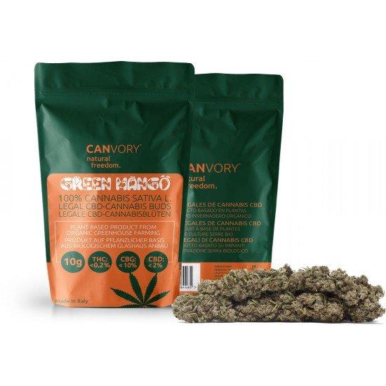 Green Mango - 10 CBG Cannabigerol Cannabis Buds, 2 gram - CANVORY
