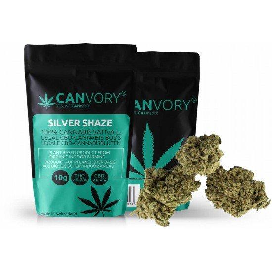 Silver Shaze - 4% CBD Cannabidiol Cannabis Blüten, 10 Gramm