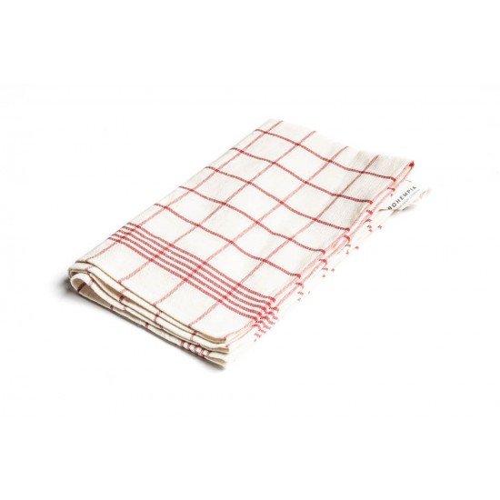Hemp Kitchen Towel Red