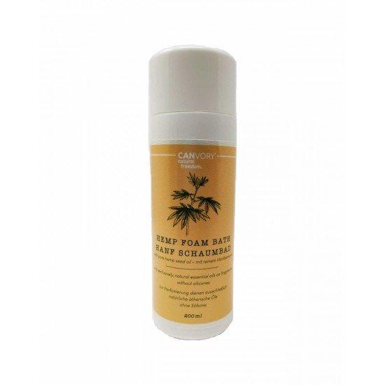 Banho de espuma de cânhamo natural com extrato de cânhamo, 200ml - CANVORY