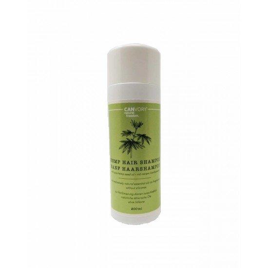Shampoo de cabelo natural com cânhamo e extrato de cânhamo, 200ml - CANVORY