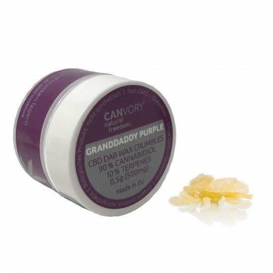 Granddaddy Purple CBD Cannabidiol Dab Wax 90 , 500 mg - CANVORY
