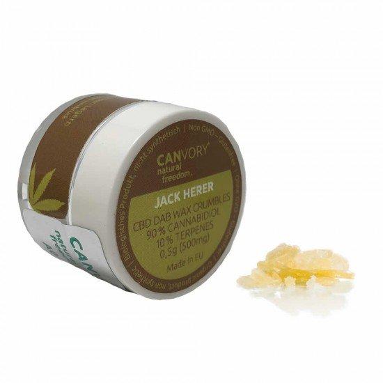 Jack Herer CBD Cannabidiol Dab Wax 90 %, 500 mg