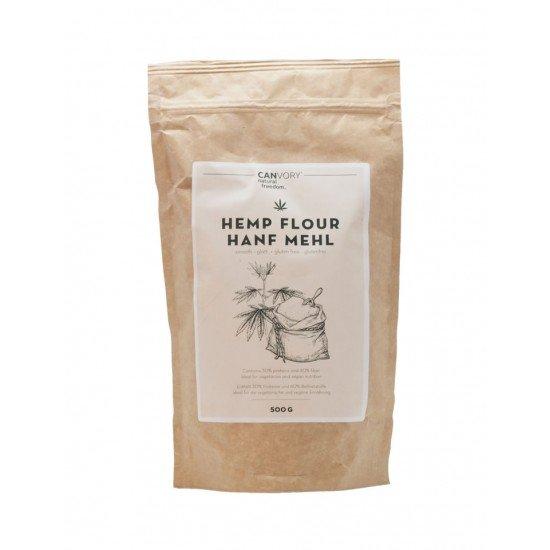Hemp flour smooth, gluten free high protein high fiber, 500g - CANVORY