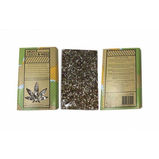 High 5 - Choco & Weed Milk Chocolate With Hemp Seeds - CANVORY