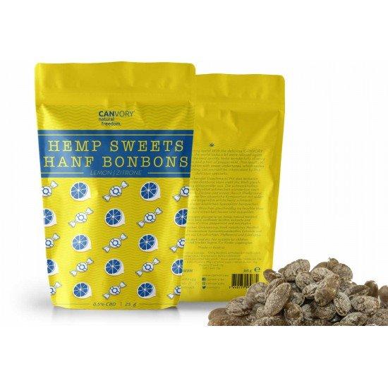 CBD Cannabidiol Hemp Sweets Lemon-flavored cannabis sweets, 0,5 CBD - CANVORY
