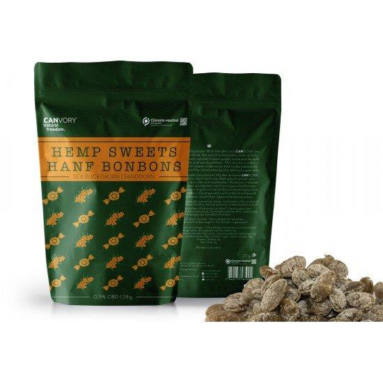 CBD Cannabidiol Hemp Sweets Sea Buckthorn flavored cannabis sweets, 0,5% CBD - CANVORY