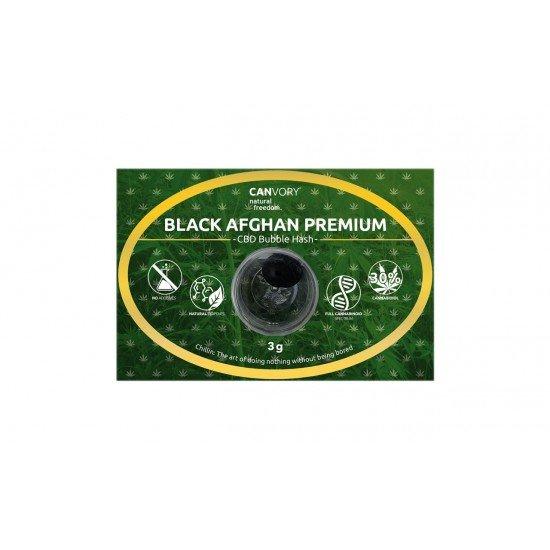 Black Afghan Premium Hashish 30 CBD Cannabidiol Pollinate Dry Extract, 3 grams - CANVORY