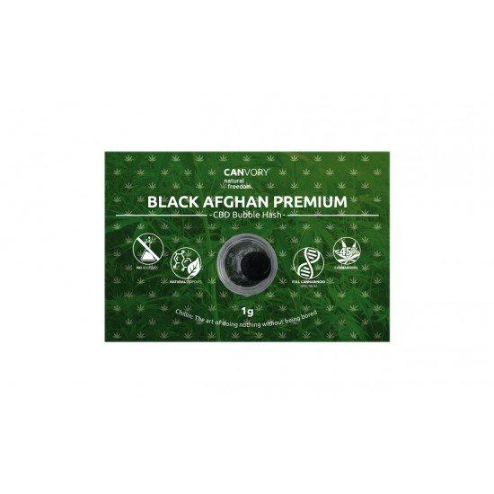 Black Afghan Premium Hashish 45 CBD Cannabidiol Pollinate Dry Extract, 1 gram - CANVORY