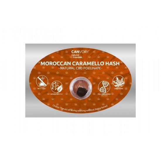 Moroccan Caramello Hashish 25 CBD Pollinate Cannabidiol Dry extract, 1 gram - CANVORY