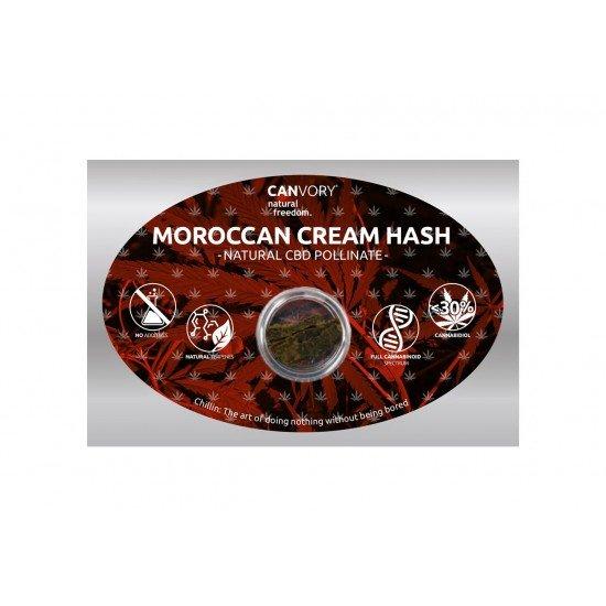 Moroccan Cream hascisc 30 di CBD Pollinat Cannabidiolo Estratto secco, 1 grammo - CANVORY