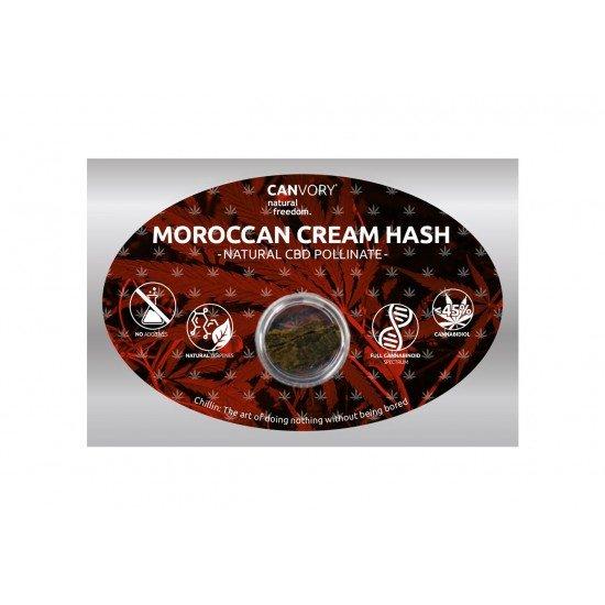 Moroccan Cream Hashish 45 CBD Pollinate Cannabidiol Dry extract, 1 gram - CANVORY