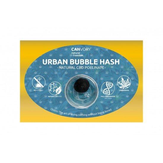 Urban Bubble Hashish 25 CBD Pollinate Cannabidiol Dry extract, 3 gram - CANVORY